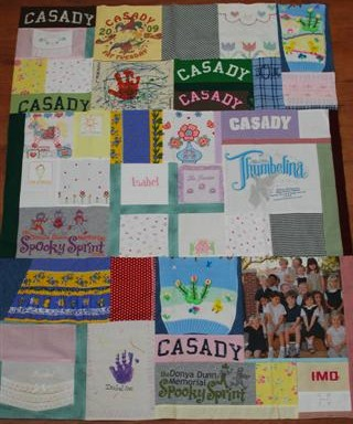 T-shirt / baby clothes memory quilt