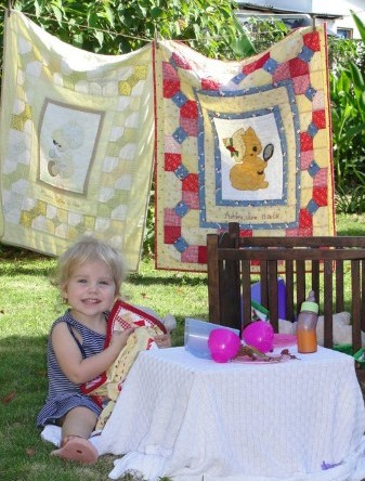 Two applique quilts I made for my nieces.