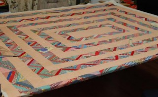 Antique strippy quilt
