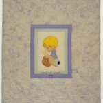 Precious Moment boy Applique Quilt.