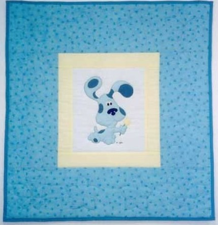 Blue's Clue's Quilt I made for a customer.