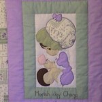 Hand applique precious moment girl