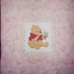 Pink Winnie the Pooh Applique Quilt