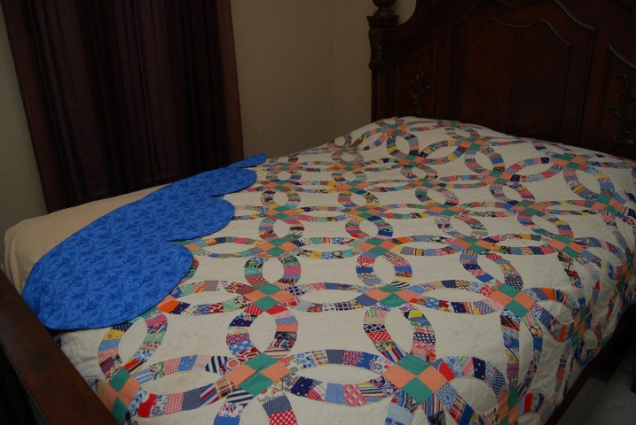 About 80 year old all hand pieced quilt I hand quilted and finished.