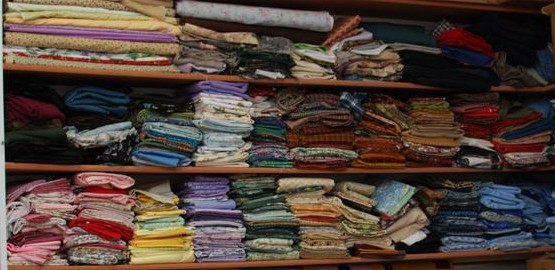 Shelves of Fabric