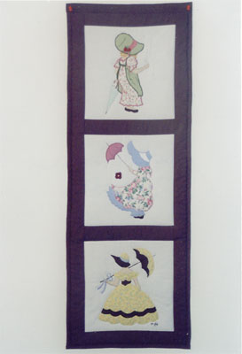 D.Willis 3 women wall hanging