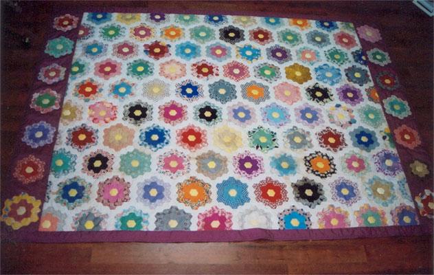J.Neely flower garden quilt