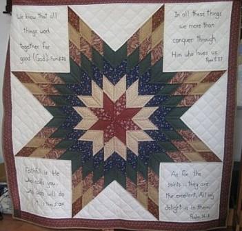 Brother Bob's scriptural lap quilt