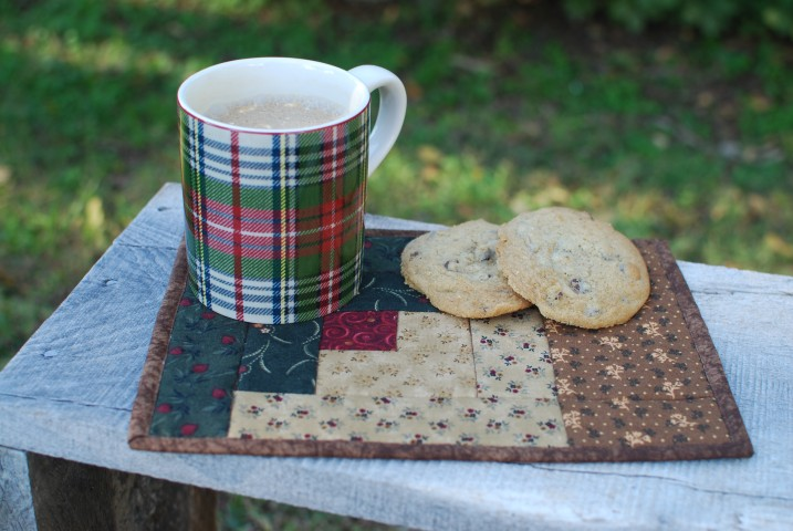 Log Cabin Mug Mat